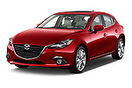 Front three quarter view of a 2014 Mazda Mazda 3 I Grand Touring HatchBack