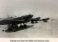 BNPS.co.uk (01202 558833)<br /> Pic: AllanScott/BNPS<br /> <br /> Sheltering from the blistering Maltese sun under the wing of his Spitfire.<br /> <br /> As Rememberance Day approches the last surviving Spitfire ace of the almost forgotten Siege of Malta has spoken about the ferocious battle over 'the most bombed place on earth' during WW2 on the 77th anniversary of the Allies' remarkable victory.<br /> <br /> Squadron Leader Allan Scott was awarded a prestigious Distinguished Flying Medal after shooting down five enemy aircraft, and claiming eight other probable kills, while defending the beleaguered British colony.<br /> <br /> Between June 1940 and November 1942, the tiny island was 'the most bombed place on earth'. It was subjected to 3,000 bombing raids, during which the German Luftwaffe and Italian fighters dropped 6,700 tons of bombs on the Grand Harbour area alone to destroy RAF defences and the ports.<br /> <br /> Over the course of the battle, 2,300 Allied airmen were killed or wounded, but their sterling efforts saved the 'flattened' island from defeat.