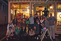 It's a Wrap! Cast and crew of Lies I Told My Little Sister film, Hallet's Ice Cream, yarmouthport, MA