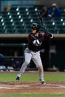 Lake Elsinore Storm right fielder Tirso Ornelas (23) during a California League game against the Lancaster JetHawks on April 10, 2019 at The Hanger in Lancaster, California. Lancaster defeated Lake Elsinore 8-5 in the second game of a doubleheader. (Zachary Lucy/Four Seam Images)