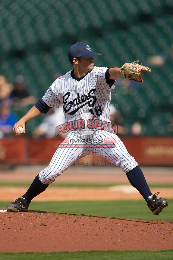 Nick Hoover #18 of the UC-Irvine Anteaters in action versus the Texas A&M Aggies in the 2009 Houston College Classic at Minute Maid Park February 27, 2009 in Houston, TX.  The Aggies defeated the Anteaters 9-2. (Photo by Brian Westerholt / Four Seam Images)