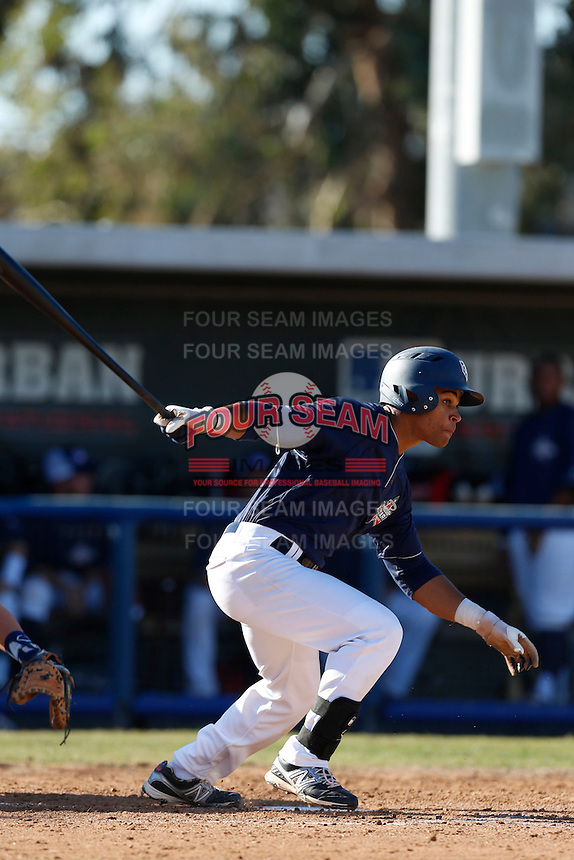 Jason Martin participates in the Jesse Flores All Star Game at the Urban Youth Academy on November 4, 2012 in Compton, California. (Larry Goren/Four Seam Images)