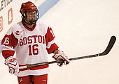 Sammy Davis (BU - 16) - The Boston College Eagles defeated the Boston University Terriers 3-2 in the first round of the Beanpot on Monday, January 31, 2017, at Matthews Arena in Boston, Massachusetts.
