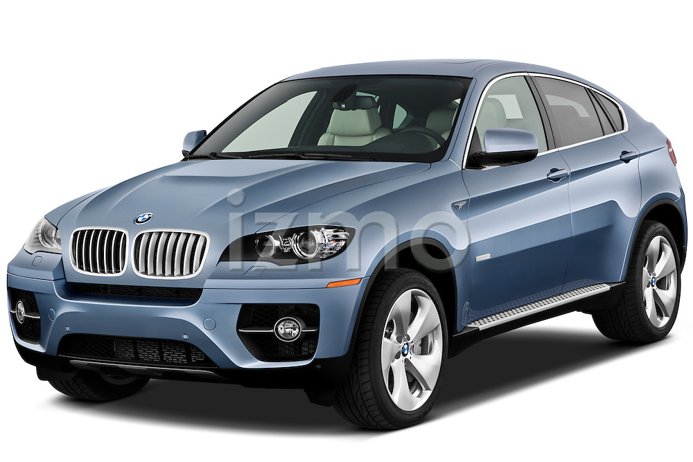 Front three quarter view of a 2010 BMW Active Hybrid X6.