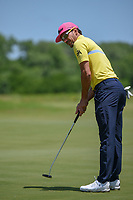 Rafael Cabrera Bello (ESP) barely misses his birdie attempt on 10 during round 4 of the AT&T Byron Nelson, Trinity Forest Golf Club, Dallas, Texas, USA. 5/12/2019.<br /> Picture: Golffile   Ken Murray<br /> <br /> <br /> All photo usage must carry mandatory copyright credit (© Golffile   Ken Murray)