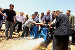 Palestinian Prime Minister, Salam Fayyad attends the opening celebration of Al-Ouja dam in the outskirts of the West Bank Jordan Valley, April 16, 2012. Photo by Mustafa Abu Dayeh