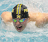 Conor Rutigliano of St. Anthony's competes in the 100-yard butterfly event during the CHSAA City Championships at Nassau Aquatic Center on Sunday, Feb. 12, 2017.