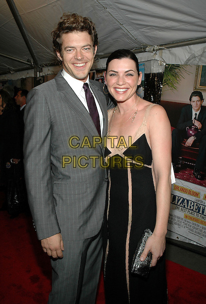 "JASON BLUM  & JULIANNA MARGULIES .Premiere of ""Elizabethtown"", at the Loews Lincoln Square Theater in Manhattan, New York, New York ..October 10th, 2005.Photo Credit: Patti Ouderkirk/AdMedia/Capital Pictures.Ref: PO/ADM/CAP.half length black dress grey gray suit jacket .www.capitalpictures.com.sales@capitalpictures.com.© Capital Pictures."