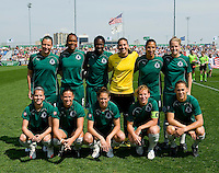 The St. Louis Athletica starters line up before the game against the Los Angeles Sol before a WPS match at Hermann Stadium, in St. Louis, MO, April 25 2009. The match ended in a 0-0 tie.