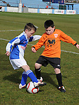 Ardee Celtic Wolves Connor McNally Slane Wanderers Padraig McKeever. Photo: Colin Bell/pressphotos.ie