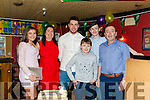John Joy ( Centre) from Duagh celebrated his 21st. Birthday last Saturday night in Murphy's Bar Abbeyfeale. Pictured with his parents Terry & Denis, sister Clodagh & brothers Darragh & Mark.