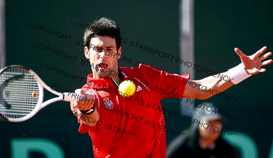 Tenis, DAVIS CUP, World group, first round.SPAIN Vs. SERBIA.Rafael Nadal Vs. Novak Djokovic.Novak Djokovic.Benidorm, 03.08.2009..Photo: © Srdjan Stevanovic/Starsportphoto.com