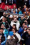 26.07.2017, Stadion Galgenwaard, Utrecht, NLD, Tilburg, UEFA Women's Euro 2017, Russland (RUS) vs Deutschland (GER), <br /> <br /> im Bild | picture shows<br /> Fans der DFB Frauen im Stadion singen Nationalhymne, <br /> <br /> Foto © nordphoto / Rauch