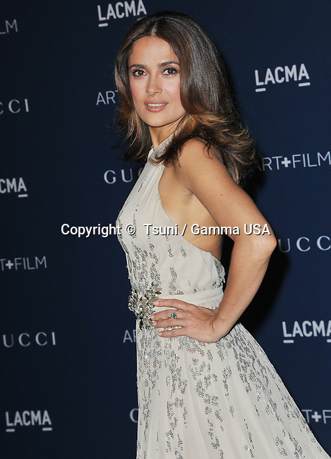 Salma Hayek-Pinault  arriving at LACMA Art + Film Gala 2013 at the LACMA Museum in Los Angeles.