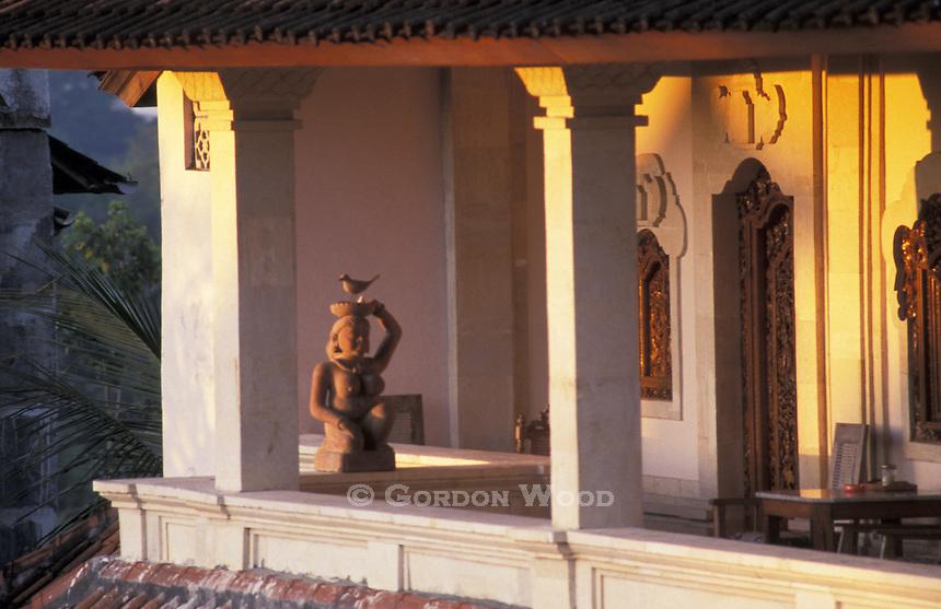 Bali Guesthouse Balcony at Sunrise