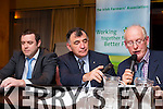 Kerry IFA AGM at Fels Point Hotel on Tuesday. Pictured Top Table Denis Griffin, Development officer,  Sean Brosnan, County Chairman, John O'Sullivan, Secretary