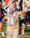 Chief Illini performs at half time in the game between Illinois and Northwestern on November 19, 2005 at Memorial Stadium in Champaign, Illinois.  Northwestern defeated Illinois 38-21.
