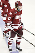 Conor Sheary (UMass - 13) - The Boston College Eagles defeated the University of Massachusetts-Amherst Minutemen 3-2 to take their Hockey East Quarterfinal matchup in two games on Saturday, March 10, 2012, at Kelley Rink in Conte Forum in Chestnut Hill, Massachusetts.