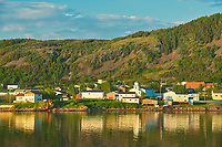 Fishing village in La Scie Harbour off the Atlantic Ocean. Baie Verte Peninsula.<br />