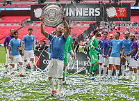 Oleksander Zinchenko of Manchester City poses with the FA Community Shield after the match between Liverpool and Manchester City at Wembley Stadium on August 4th 2019 in London, England. (Photo by John Rainford/phcimages.com)<br /> Foto PHC/Insidefoto <br /> ITALY ONLY