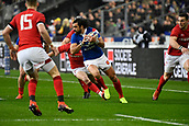 February 1st 2019, St Denis, Paris, France: 6 Nations rugby tournament, France versus Wales;  Louis Picamoles (fr) breaks a tackles into open field run