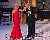 "President-elect of The United States Donald J. Trump kisses the hand of his campaign manager Kellyanne Conway at the ""Candlelight"" dinner to thank donors in Washington, DC, January 19, 2017. <br /> Credit: Chris Kleponis / Pool via CNP"