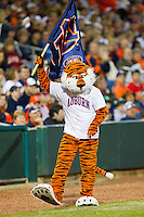 The Auburn Tigers mascot during the Max Capital City Classic against the Alabama Crimson Tide at Riverwalk Park on March 15, 2011 in Montgomery, Alabama.  Photo by Brian Westerholt / Four Seam Images