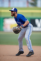 Toronto Blue Jays Johnny Aiello (28) during an Instructional League game against the Philadelphia Phillies on September 23, 2019 at Spectrum Field in Clearwater, Florida.  (Mike Janes/Four Seam Images)