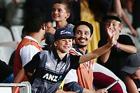 Fans enjoying the action. New Zealand Black Caps v Australia, Final of Trans-Tasman Twenty20 Tri-Series cricket. Eden Park, Auckland, New Zealand. Wednesday 21 February 2018. © Copyright Photo: Anthony Au-Yeung / www.photosport.nz