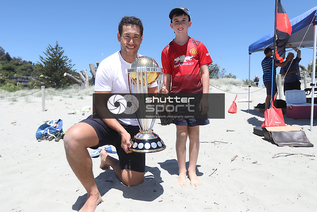 ICC Cricket World Cup 2019 Trophy Tour at Tahunanui Beach Nelson on Monday the 7th January 2019. Copyright Photo by  / Shuttersport