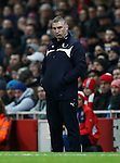 Leicester's Nigel Pearson looks on dejected<br /> <br /> Barclays Premier League- Arsenal vs Leicester City  - Emirates Stadium - England - 10th February 2015 - Picture David Klein/Sportimage