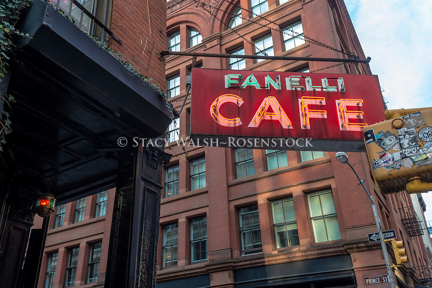 New York, NY 9 November 2014 - Fanelli Cafe in Soho