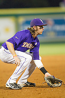 LSU Tigers third baseman Conner Hale (20) on defense during a Southeastern Conference baseball game against the Texas A&M Aggies on April 24, 2015 at Alex Box Stadium in Baton Rouge, Louisiana. LSU defeated Texas A&M 9-6. (Andrew Woolley/Four Seam Images)