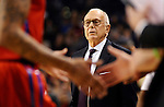 Nov 17, 2014; Spokane, WA, USA; Southern Methodist Mustangs head coach Larry Brown looks on again the Gonzaga Bulldogs during the 1st half at McCarthey Athletic Center. Mandatory Credit: James Snook-USA TODAY Sports