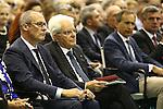 Sergio Mattarella, President of the Italian Republic attends the Lectio degasperiana 2016 - Alcide De Gasperi - 70 years of Europe on 18/08/2016 in Pieve Tesino, Italy.