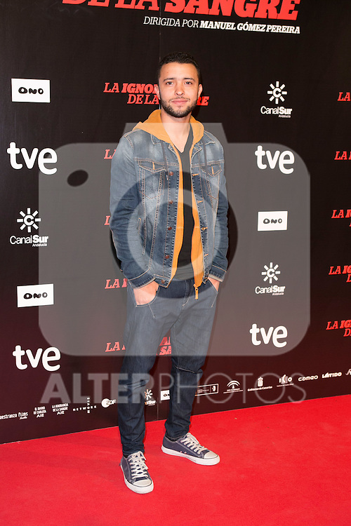 "Ayub Lunatico attends ""La Ignorancia de la Sangre"" Premiere at Capitol Cinema in Madrid, Spain. November 13, 2014. (ALTERPHOTOS/Carlos Dafonte)"
