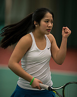 The Hague, The Netherlands, March 17, 2017,  De Rhijenhof, NOJK 14/18 years, Lian Tran (NED)<br /> Photo: Tennisimages/Henk Koster