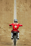 Jim McNeil practices for the Freestyle Moto-x competition during X-Games 12 in Los Angeles, California on August 4, 2006.