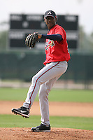 March 23rd 2008:  Julio Teheran of the Atlanta Braves minor league system during Spring Training at Disney's Wide World of Sports in Orlando, FL.  Photo by:  Mike Janes/Four Seam Images