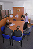 Youth court proceedings; with defence outlining case for young offender to panel of magistrates,