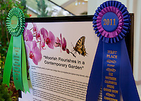 "The Orange Coast College Hotriculture Club entered the 2011 Spring Garden Show landscape design competition (http://www.springgardenshow.com/) and won first place in the student category for their ""Moorish Flourishes in a Contemporary Garden"" design."