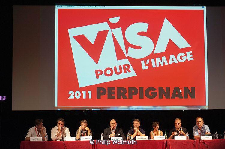 CEPIC panel discussion at the Visa Pour L'Image festival of photojournalism, Perpignan, France.