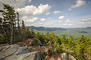 May 2015 - Scenic view from the summit of Mount Tecumseh in Waterville Valley, New Hampshire USA during the spring months. View shedding (illegal cutting) has improved the summit view. Forest Service has verified the cutting is unauthorized.