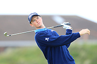 Riley Elmes (USA) on the 5th tee during Round 1 of the The Amateur Championship 2019 at The Island Golf Club, Co. Dublin on Monday 17th June 2019.<br /> Picture:  Thos Caffrey / Golffile<br /> <br /> All photo usage must carry mandatory copyright credit (© Golffile | Thos Caffrey)