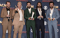 LAS VEGAS, NV - APRIL 15:  Old Dominion in the press room at the 53rd Annual Academy of Country Music Awards at MGM Grand Garden Arena on April 15, 2018 in Las Vegas, Nevada. (Photo by Scott Kirkland/PictureGroup)
