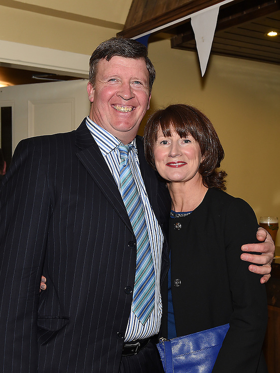 Declan and Ann Heeney pictured at Naomh Mairtin Annual Reunion Dinner Dance in the Grove House Dunleer. Photo:Colin Bell/pressphotos.ie