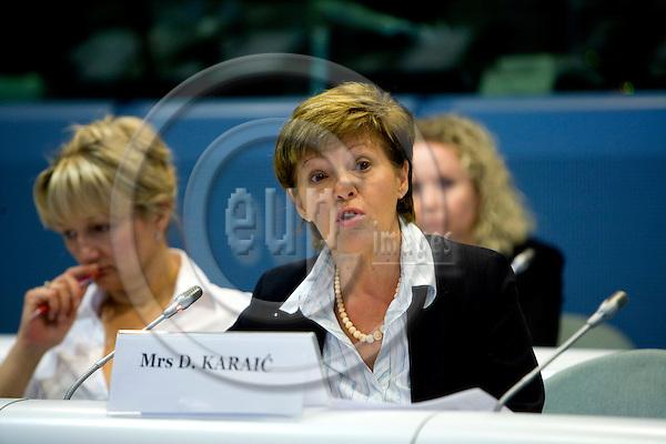 BRUSSELS - BELGIUM - 18 JUNE 2009 --  Dragica KARAIC, EU Charter co-ordinator, Ministry of Economy, Labour and Entrepreneurship, Croatia Photo: Erik Luntang/EUP-IMAGES