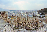 Athens: The Odeon of Herodes Atticus. 161 A.D. 5000 seats, carved into rock of the Acropolis. Photo '82.