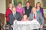 Deirdre Fee, Be Aware Prevent Suicide, pictured as she accepted a cheque for ?3,380 from Dessie Robinson, right, IMPACT charity cycle in the Malton Hotel, Killarney on Tuesday evening. Also pictured are Kevin O'Malley, IMPACT National President, Joan McCrohan, Donal Clifford, Tom Leslie and Breda Joy. ..............................................