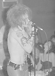 GUNS N ROSES - Axl Rose - Performing Live at Whisky A Go Go in Hollywood, Ca 08/01/1987 - Photo Credit : David Plastik